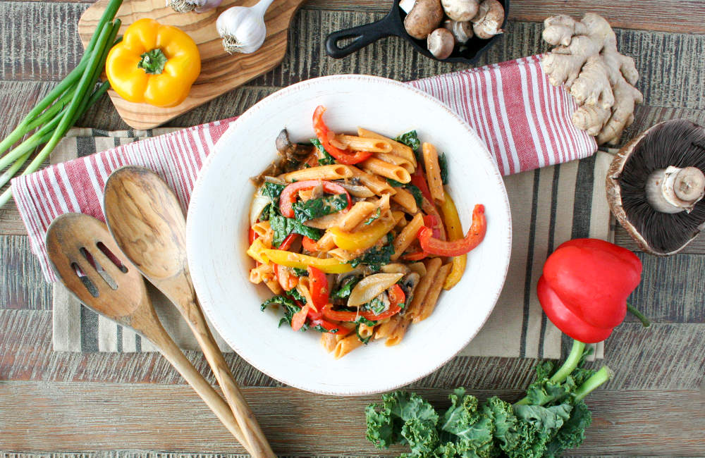 Creamy Red Curry Lentil Pasta